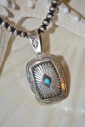0040 Silver Bead & Buckle Tool Pendant