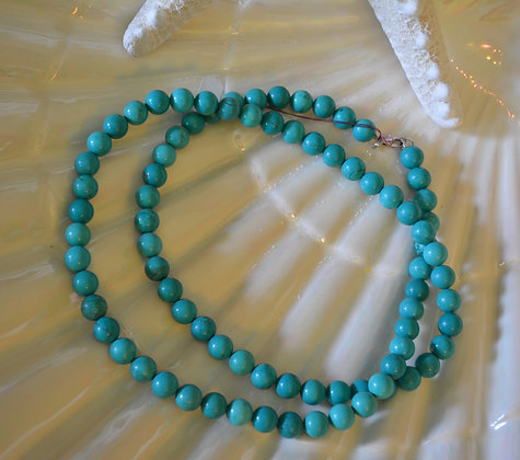 1122.2 Turquoise sml Bead Necklace