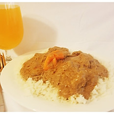 Mafe/Peanut butter sauce with white rice