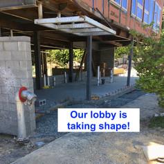 lobby is taking shape