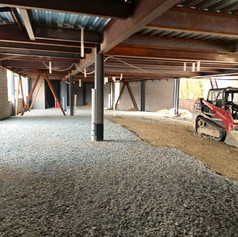 parking garage getting leveled out
