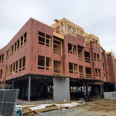front of building through floor 3