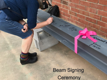 """Beam-Signing Marks BCC's """"Topping-Out"""""""