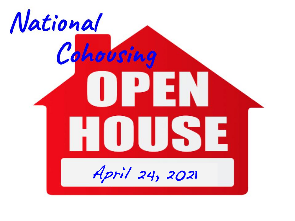 logo for national cohousing open house day on April 24, 2021