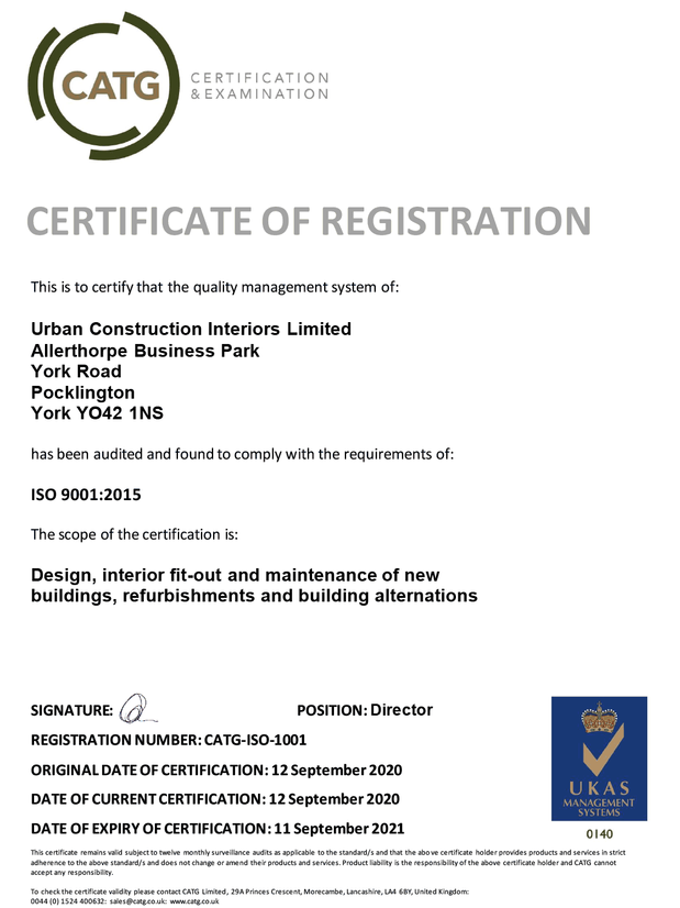 ISO9001 Certificate 2020-21