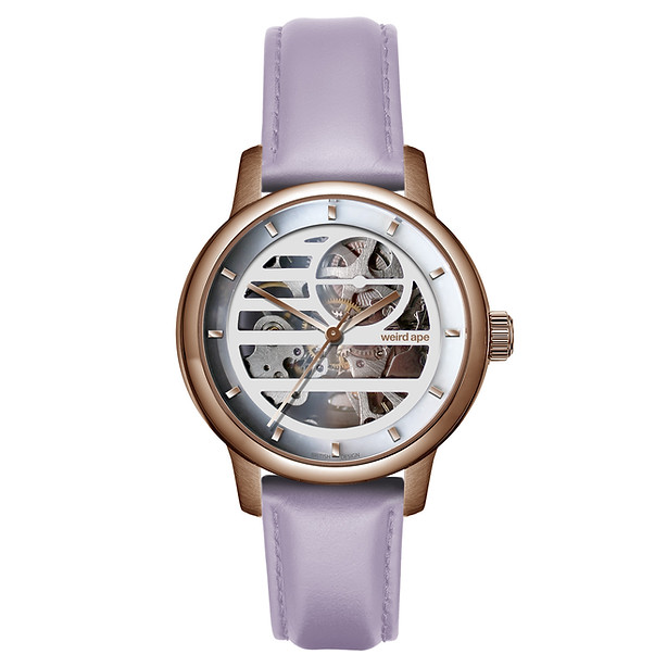 Weird Ape Rosalind - White Rose Gold / Lilac Leather £189