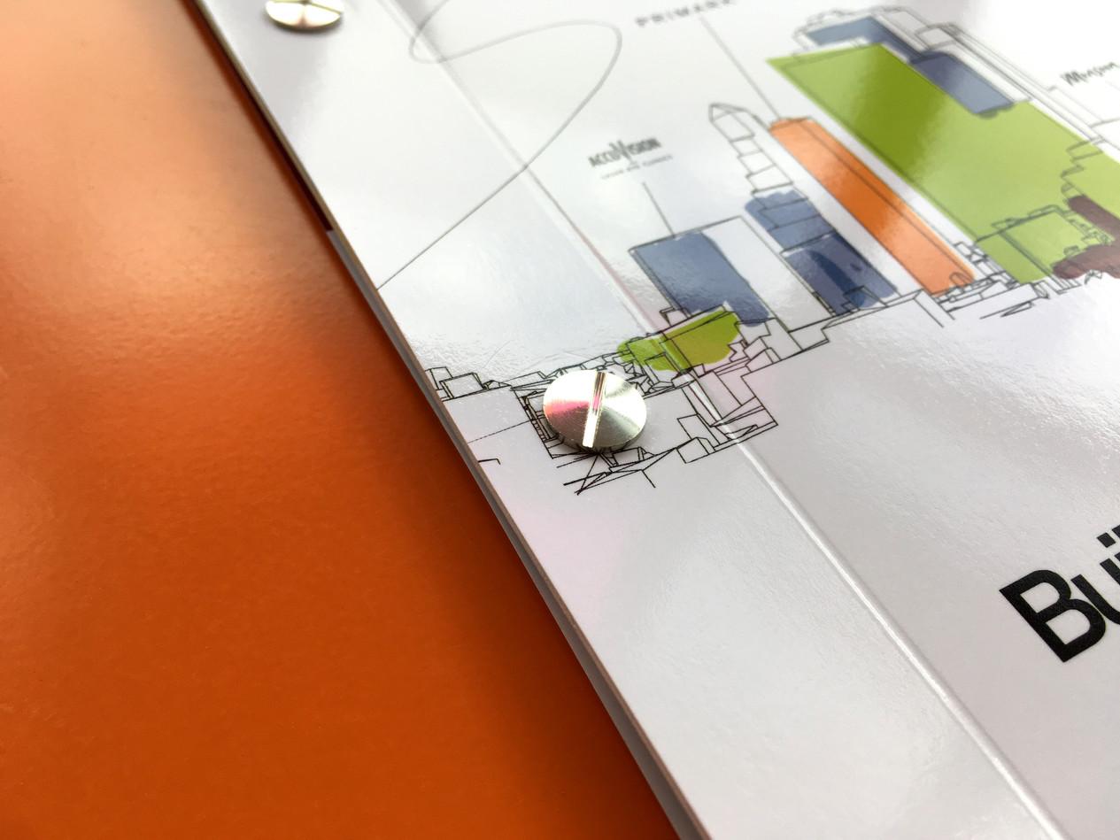 Brochure, rivet bound