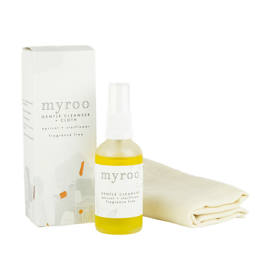 Myroo Skincare - Gentle Cleanser & Cloth Fragrance Free 43g
