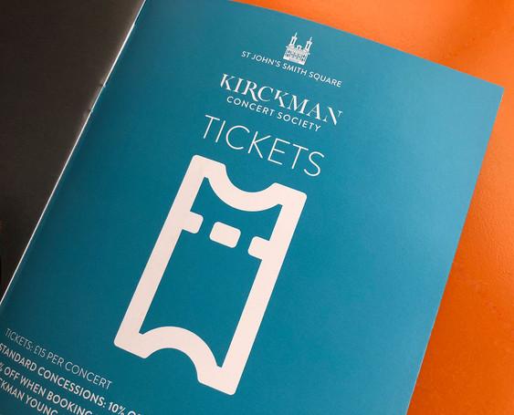 Kirckman Concert Society Brand identity 2018