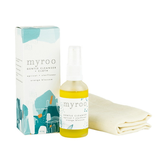 Myroo Skincare - Gentle Cleanser & Cloth - Orange Blossom 43g