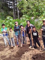 Yalu Boys Working the Land