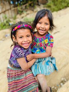 Happy girls in Yalu