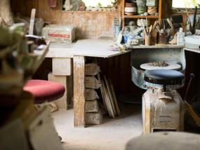 Jeff Mincham's Studio - potter's wheel