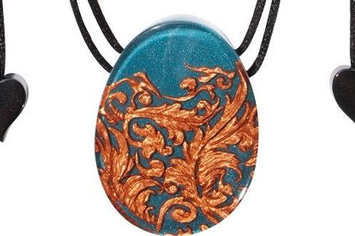 Brocade Pendant - Turquoise