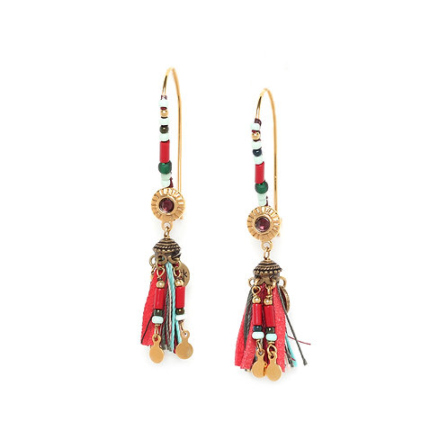 Anita Statement Long Hook Earrings