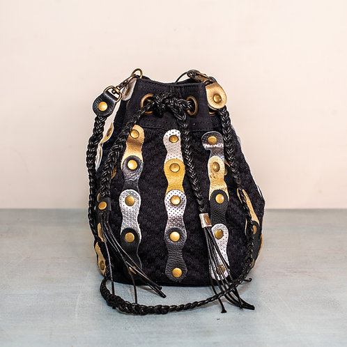Miguel Cartagena bag - Black-Gold-Silver