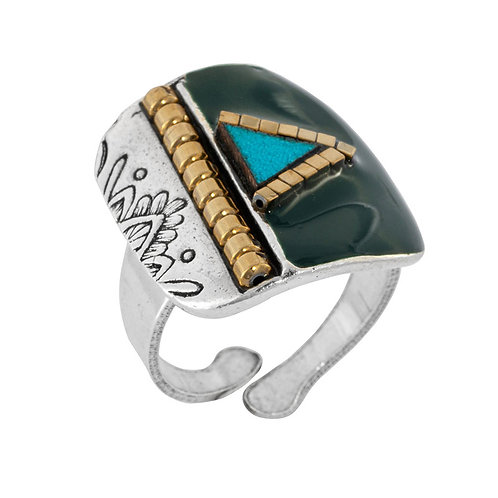 Africa Pop Ring-Turquoise