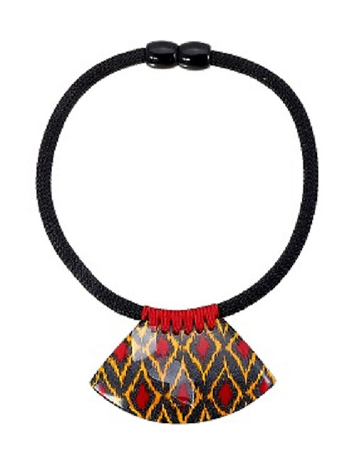 I Kat Statement Necklace - Red