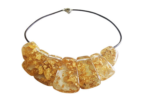 N35 Necklace - Gold Flakes