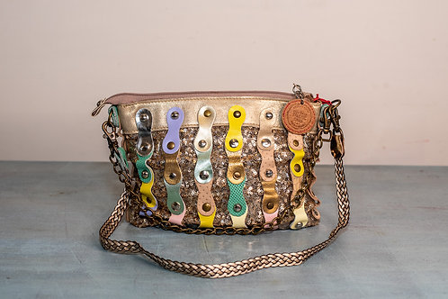 Hung Ibiza evening bag - Gold Multi