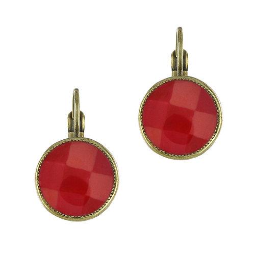 Filipendule Hook Earrings-Red