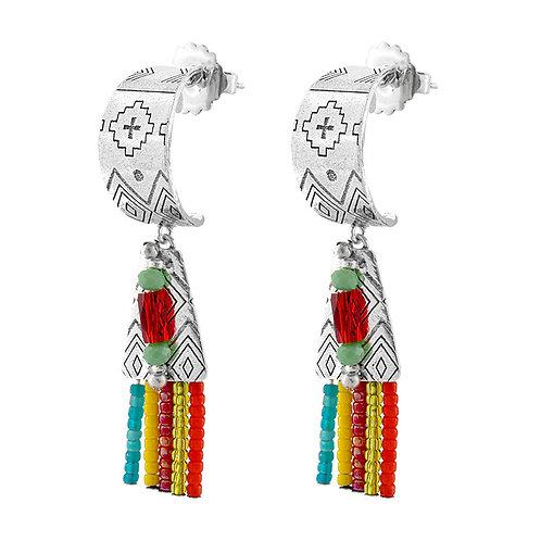 El Sol Long Earrings