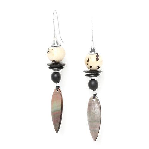 Serval Long Hook Earrings