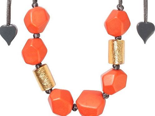 Dolomites Necklace - Orange-Gold