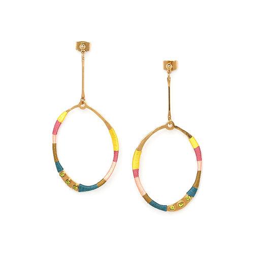Melly long stud earrings