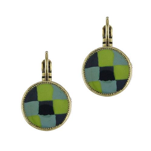 Filipendule Hook Earrings-Blue