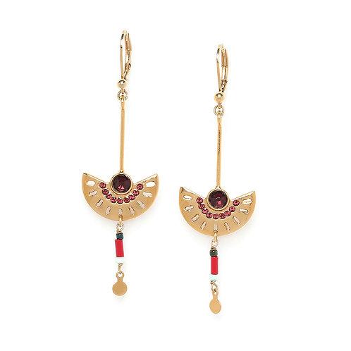 Anita Long Hook Earrings