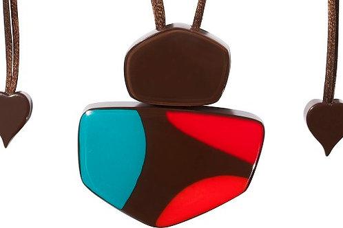 Arte Pendant - Brown-Turquoise