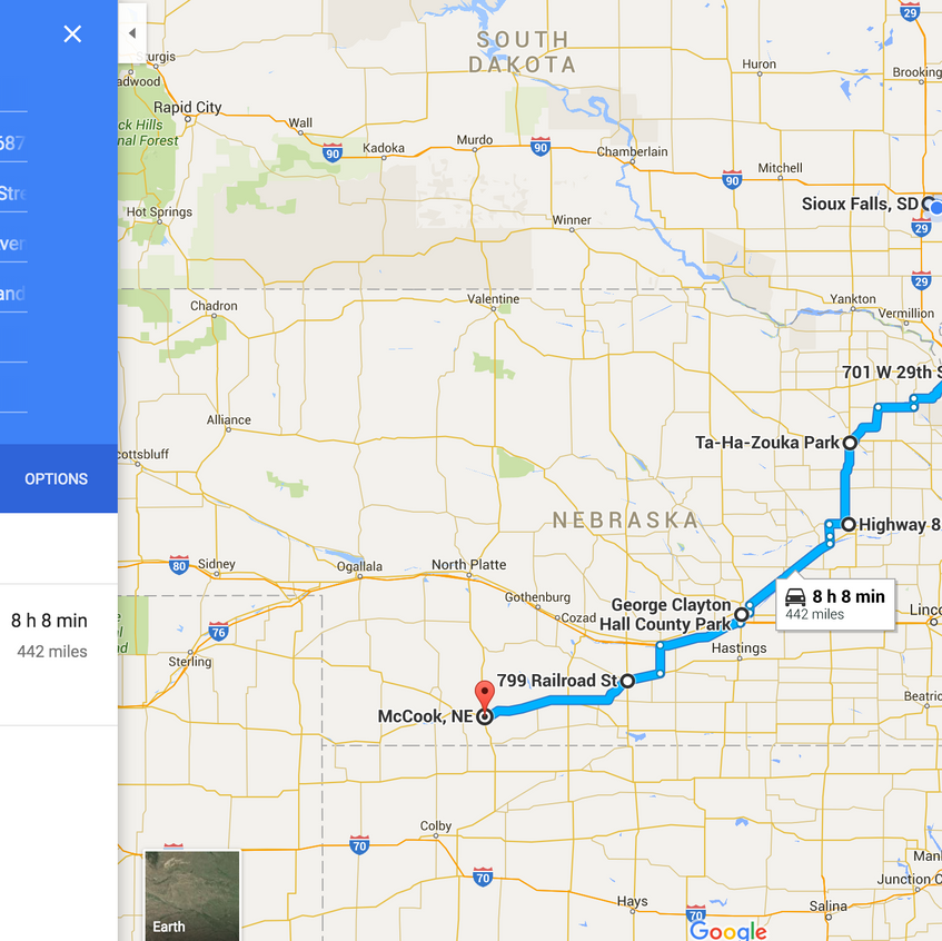 SiouxFalls to McCook