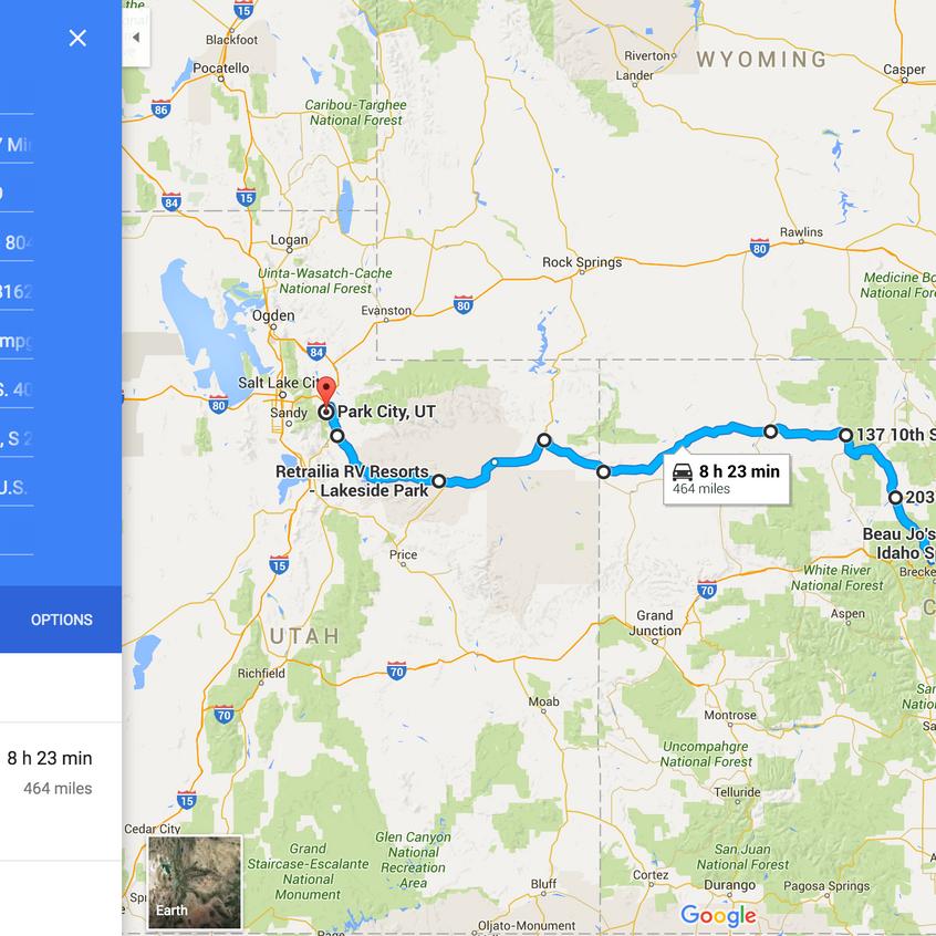 Denver To Park City