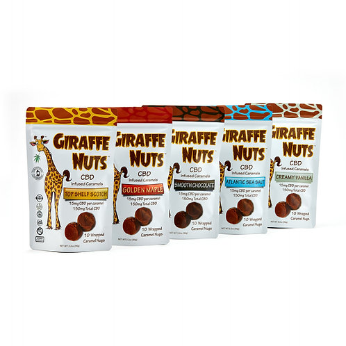 Giraffe Nuts CDB Infused Caramels - 150mg