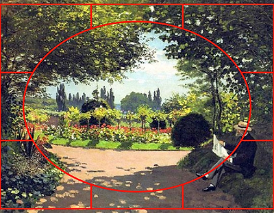 Adolphe Monet Reading in the Garden 1866
