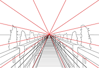 Vanishing Point photography composition rule