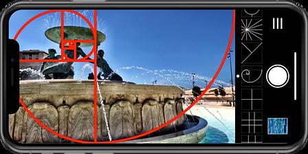 Wise Camera app Fibonacci Spiral