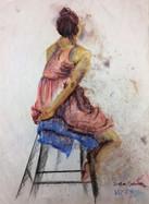 "Colored Pastel Study, 18"" x 24"" on Newsprint"