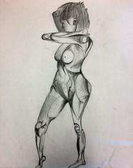 """Pencil Study, 18"""" x 24"""" on Bristol Paper"""