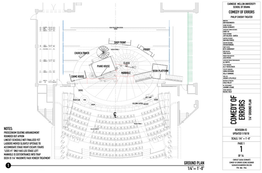Comedy of Errors Ground Plan