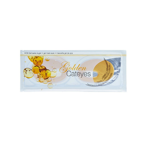 "Golden Gel Mask ""Cateyes"""