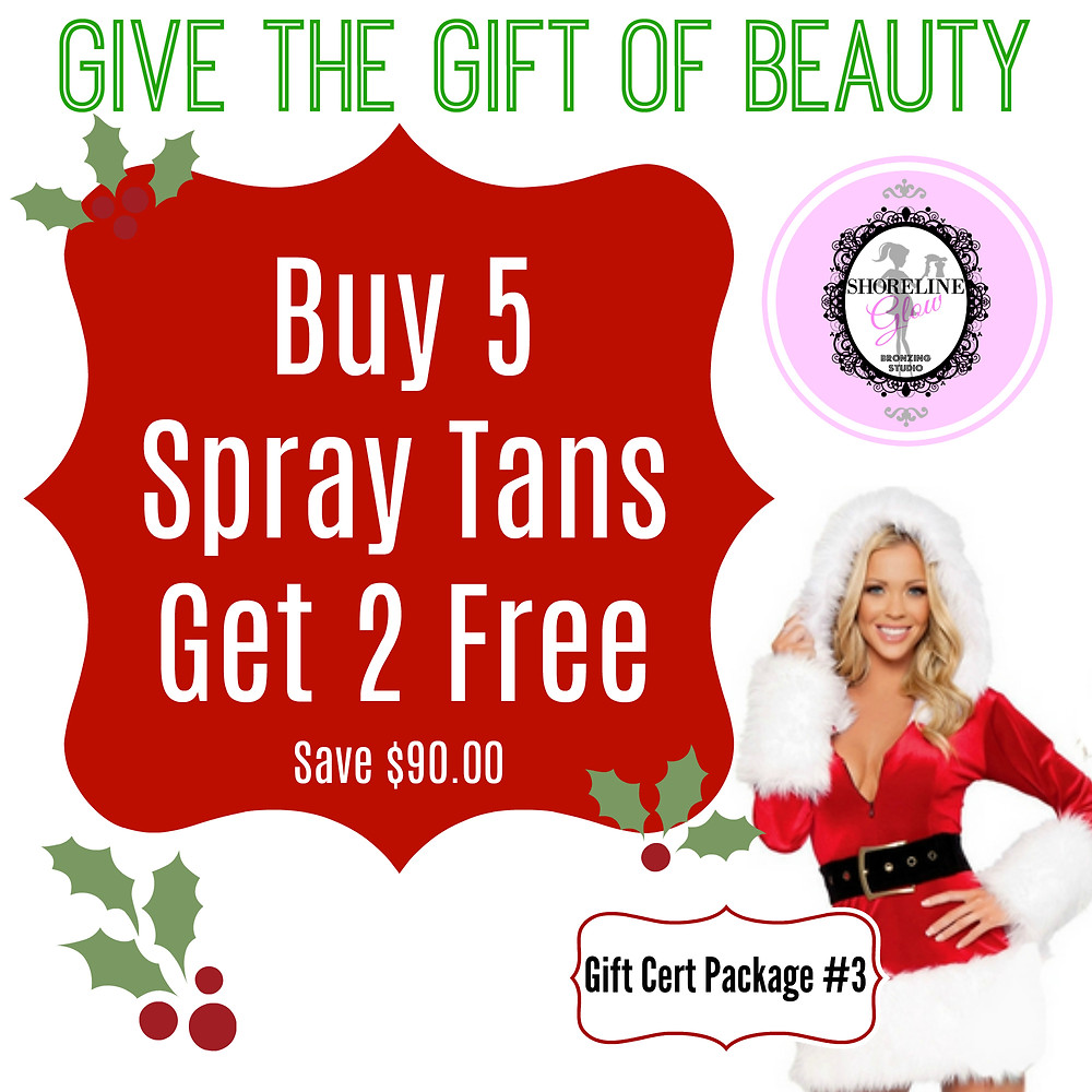 Spray Tanning Christmas Package