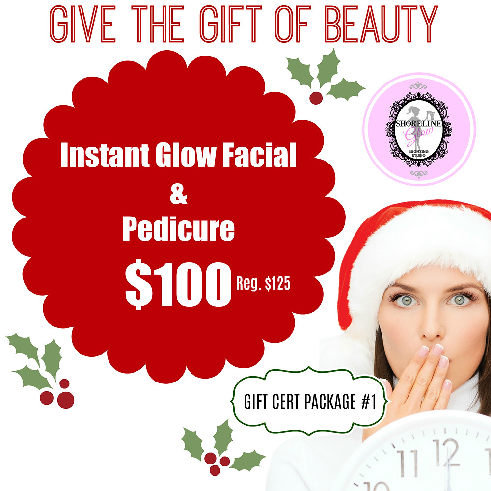 Spa Christmas Package - Instant Glow Facial & Pedicure