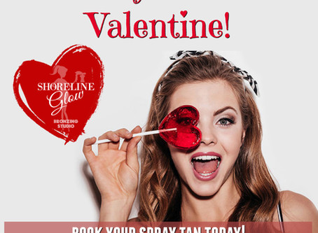 Be My Tanned Valentine... with a Spray Tan!
