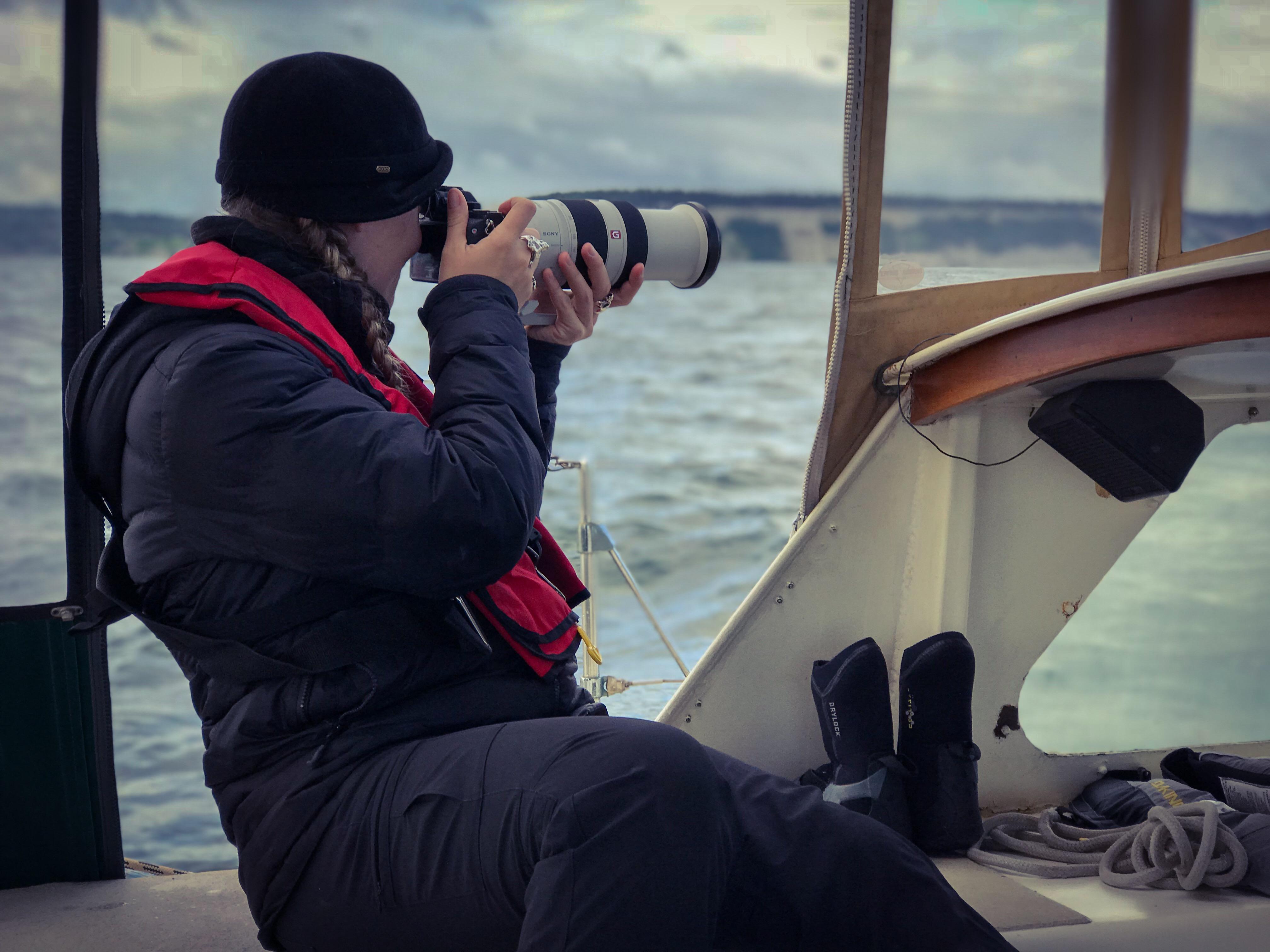 On sailing vessel Ocean Watch.