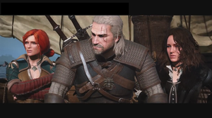 Triss, Geralt and Yennefer in The Witcher 3: Wild Hunt