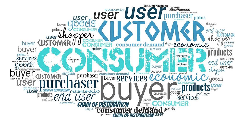 Customer, consumer, end user