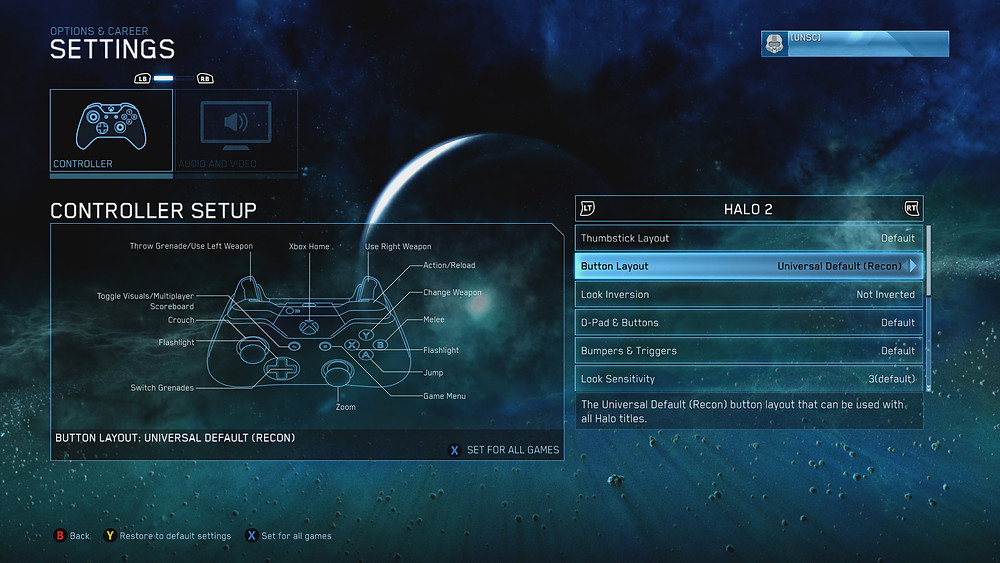 Halo 2 Control 'options'