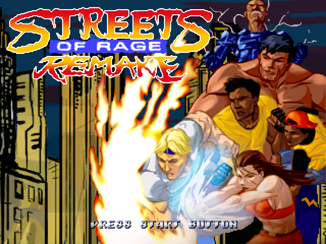 Streets of Rage Remake 5.1 title screen